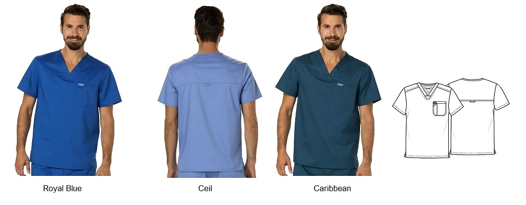 WW690 Cherokee Revolution Vneck Scrub Top <br>Soft, Stretch, Wrinkle Free