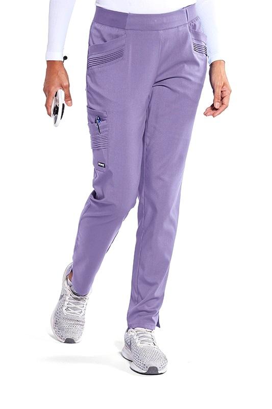 GIP507 Grey's Anatomy Impact Moto Pintucks Pants Stretch <br>Wisteria Purple